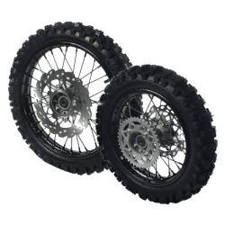Coppia ruote bici della Sporcizia