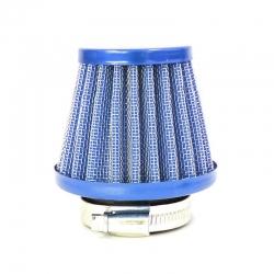 Filtro aria in acciaio ø38mm - Blu