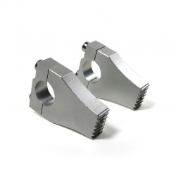 Sella per 28.6 mm CNC in lega di Grigio costine di fissaggio (viti 1