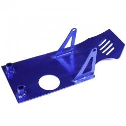 Piastra paramotore in alluminio Blu