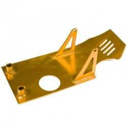 Piastra paramotore in alluminio placcato oro