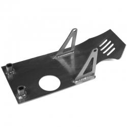 Piastra paramotore in alluminio - Nero