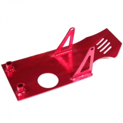 Piastra paramotore in alluminio - Rosso