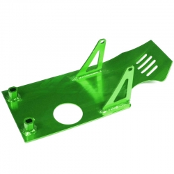 Piastra paramotore in alluminio - Verde