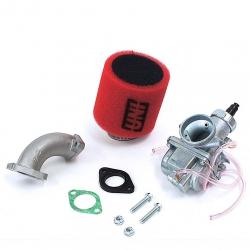 Pack carburatore MOLK 26 - filtro aria UNI rosso