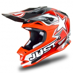 Casco cross JUST1 J32 Moto X Rossa
